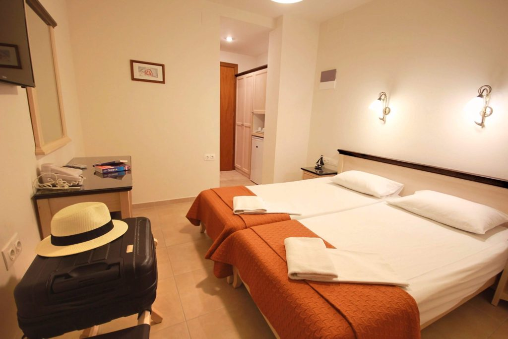 double room with two beds mirabello hotel heraklion crete